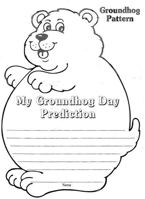 groundhog day kindergarten worksheets groundhog day prediction