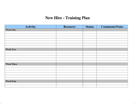 3 training plan templatememo templates word memo