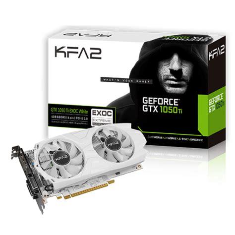 Galax Geforce Gtx 1050 Ti Exoc White Edition 4gb Ddr5 Limitededition kfa2 geforce 174 gtx 1050 ti exoc white exoc white series graphics card
