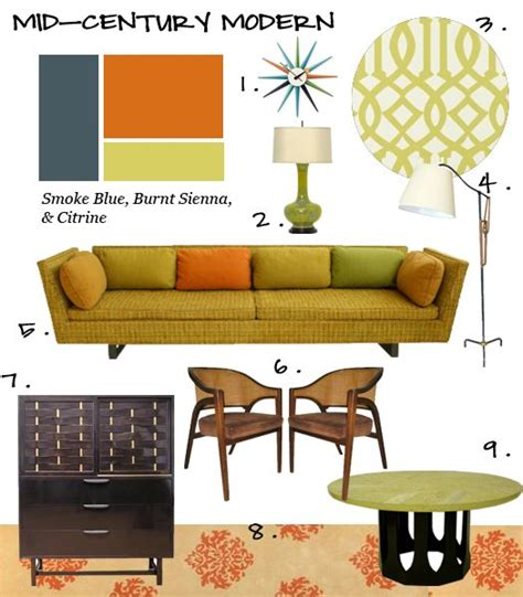 mid century modern color schemes fall 2009 blb color trend forecast 6 mid century