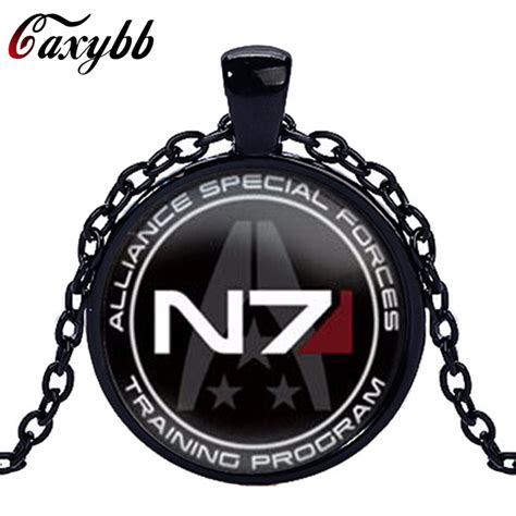 caxybb brand charms necklaces mass effect inspired n7