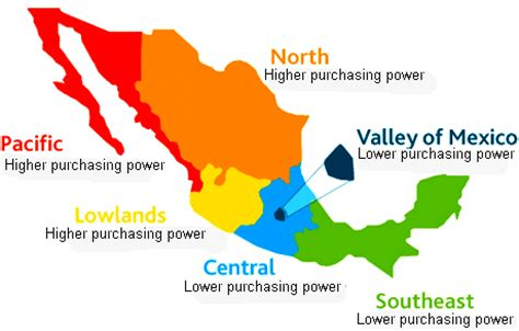 map of mexico regions consumer shopping habits and regions in mexico geo