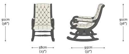 rocking chair dimensions standard rocking chair dimensions chairs seating