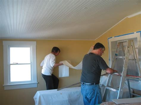 installing beadboard wallpaper how to install a beadboard ceiling popcorn home