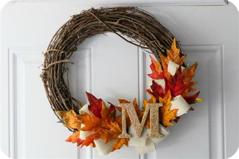 fall wreaths little lovelies tutorial fall wreath
