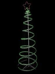 5 foot spiral rope light christmas tree flashing led trees trees the warehouse