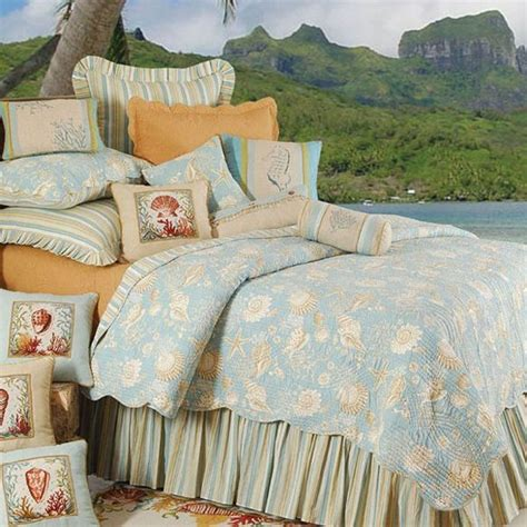 beachy bedding shop natural shells bed covers the home decorating company