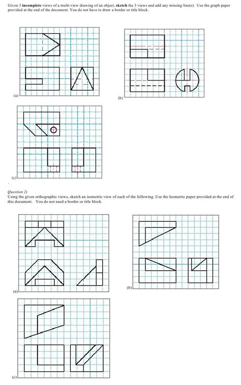 3 Drawing Views by Given 3 Incomplete Views Of A Multi View Drawing O