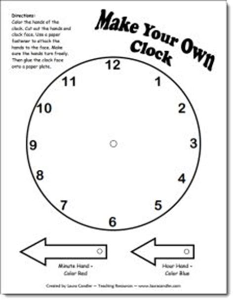 Make A Paper Clock Template - 79 best clocks telling time images on school