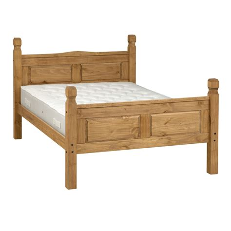 pine bed pine double bed king size bed frame