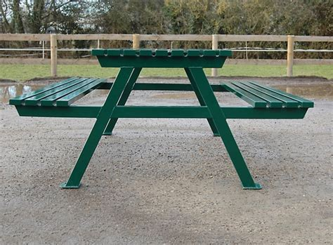 steel picnic table frame kimpton a frame steel picnic table branson leisure esi