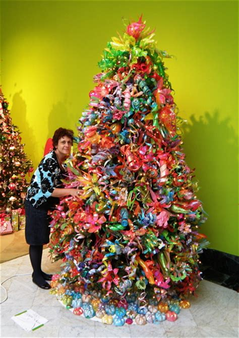 christmas trees made of bottles merry trashmas 2010 ruby re usable