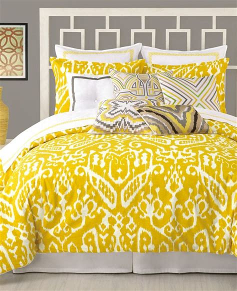 yellow bed comforter trina turk ikat twin xl twin comforter set mustard