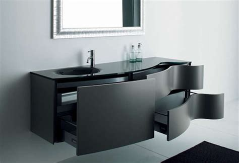 Bathroom Black Corner Wall Cabinet With Two Shelf And Bathroom Furniture Design