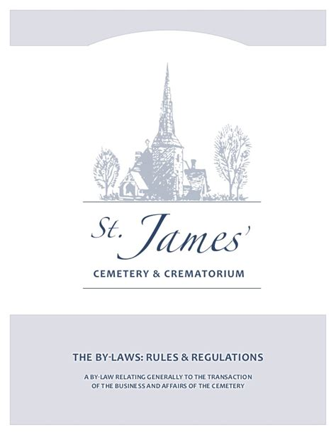 Ksu Mba Requirements by Bylaws Of St Cemetery Crematorium Toronto