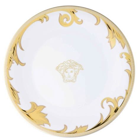 Versace Logo Plate Shopper by Service Plate Gold 13 Inch Le Grand Divertissement