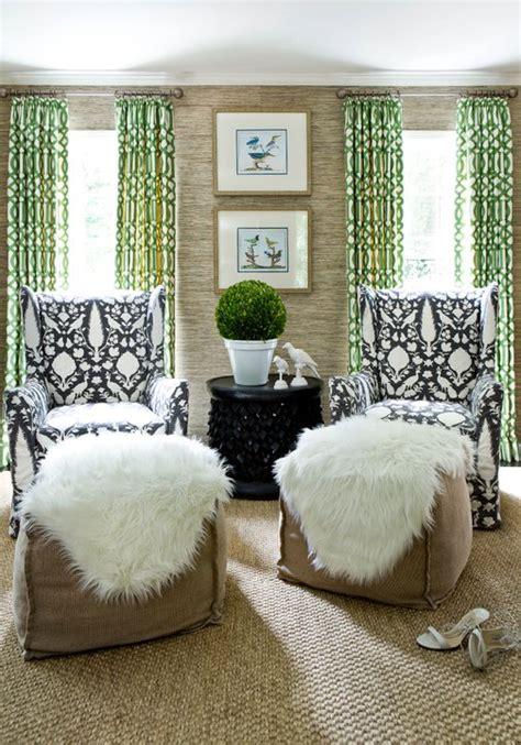green curtains living room melanie