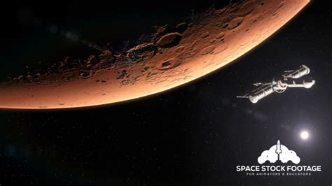 Sun Mars Clear 50 Warranty 5 Years spaceship leaving mars by spacestockfootage2 videohive