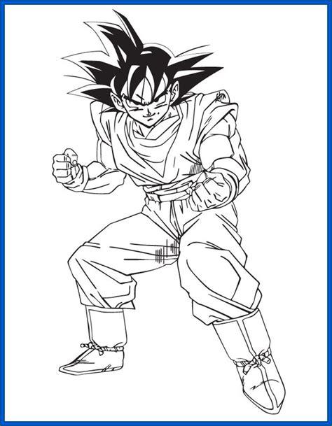 Imagenes Para Pintar A Goku | im 225 genes de goku y sus transformaciones para colorear