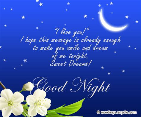 good night message for someone special for him sweet goodnight messages and goodnight text messages wordings and messages