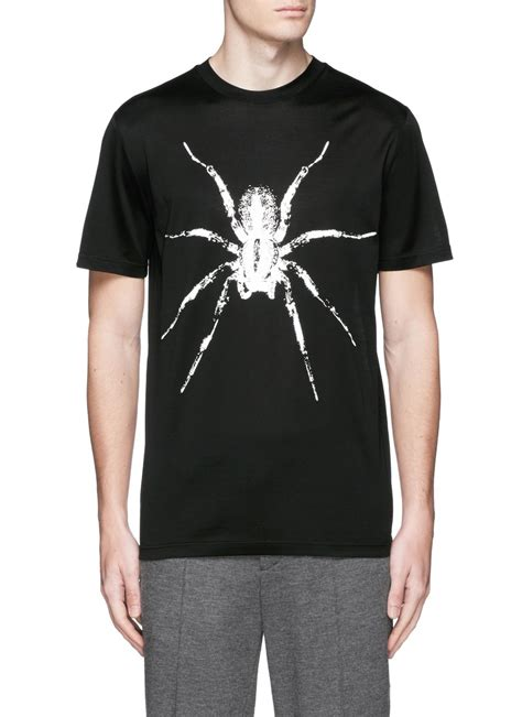 T Shirt Spider Black lanvin spider print t shirt in black for lyst