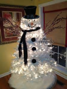 Frosty the snowman christmas tree this is such an easy idea if you