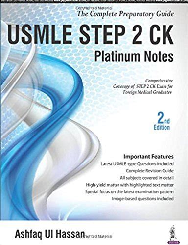 usmle step 2 secrets 5e usmle step 2 ck platinum notes 2nd edition pdf