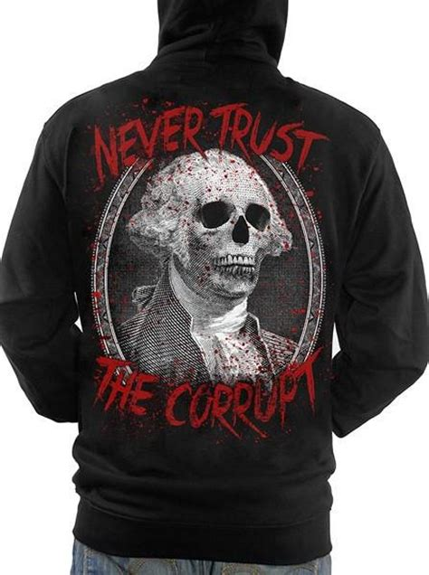 Hoodie Zipper Kindred Never One quot never trust the corrupt quot s hoodie by skygraphx inked shop