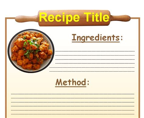 word recipe book template printable lesson plan template nuttin 39 but preschool