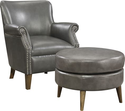 Gray Chair And Ottoman Oscar Gray Accent Chair And Ottoman From Emerald Home Coleman Furniture