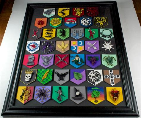 house manwoody game of thrones paper quilling house sigils framed by wholedwarf on deviantart