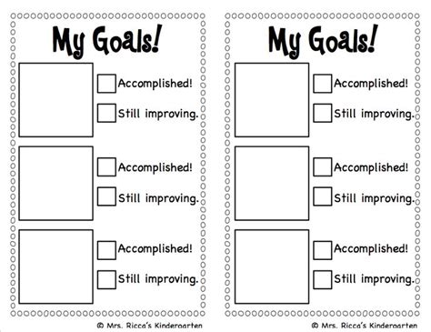 free student goal card template best 25 behavior goals ideas on behavior