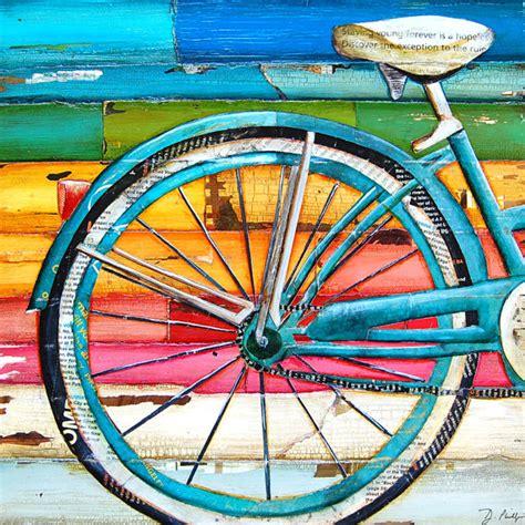 bike painting print or canvas bicycle bike biking cycling