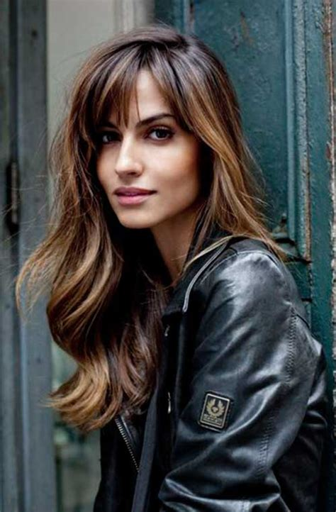 styles long bangs 20 best long bangs long hair hairstyles haircuts 2016