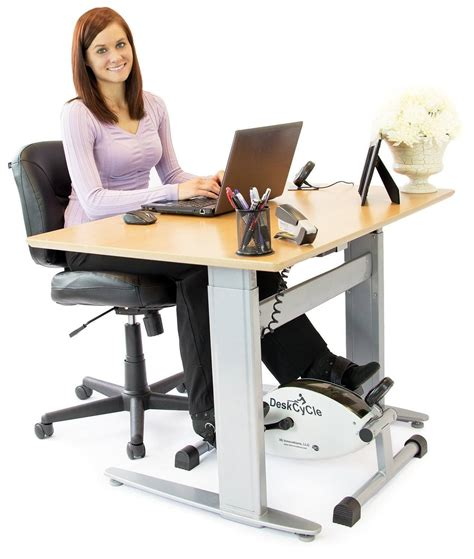 exercise bike with laptop desk deskcycle desk exercise bike stay active at work