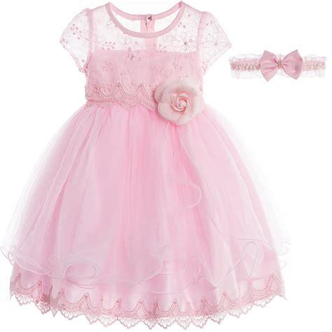 Set Dress Baby by Romano Princess Baby Pink Tulle Dress Headband