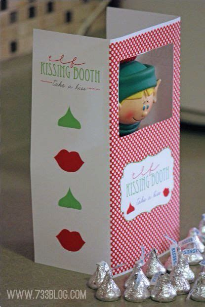 printable elf on the shelf kissing booth template elf on the shelf helping mom do this for jacob