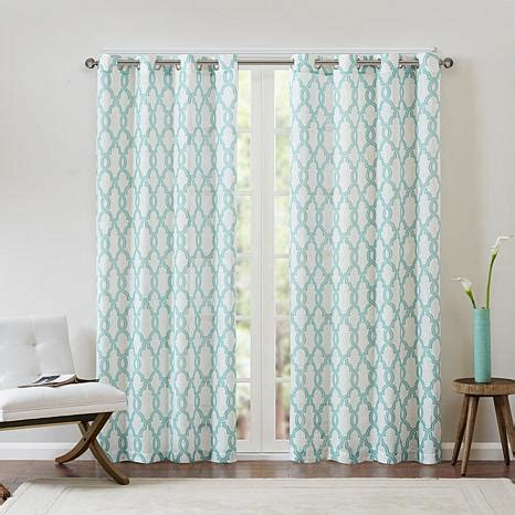 Aqua Color Curtains Designs Park Bond Fretwork Window Panel Curtain Aqua Beige 50 Quot X 84 Quot 8171483 Hsn