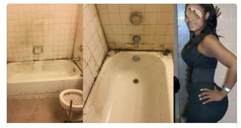 most disgusting bathrooms landlord post photo of disgusting bathroom of a lady who