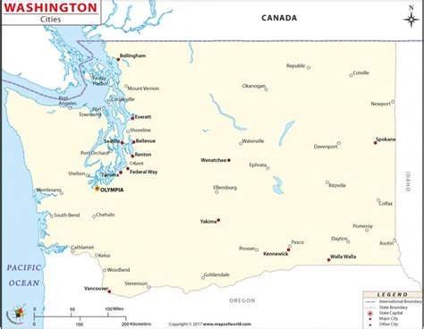 washington state map with cities buy map of washington state cities