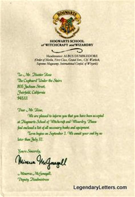 Harry Potter Hogwarts Personalized Acceptance Letter Free 1000 Images About Harry Potter Magic On Ministry Of Magic Tickets And Hogwarts
