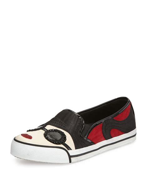 A C C E P T Lip Sneakers Black stacey slip on sneaker