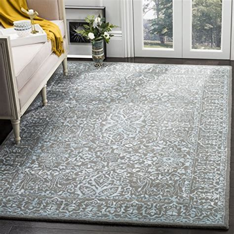 furniture and rug depot safavieh collection glm516e blue and grey square area rug 6 square