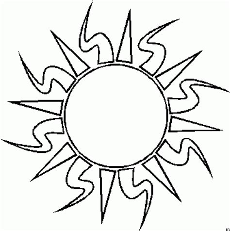 Sun Drawing For Kids Clipart Best Sun Colouring Page