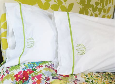 Monogram Pillow Cases by Monogram Standard Pillow Cases With Ribbon Trim Monogram
