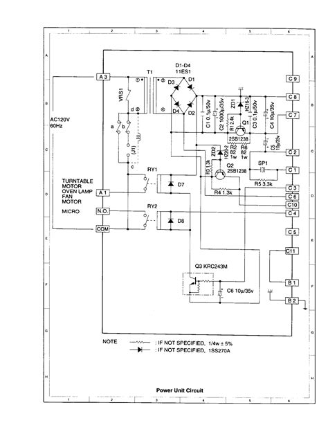 microwave oven circuit diagram 28 images image gallery
