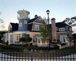 Traditional shingle style classic american cottage with lighthouse