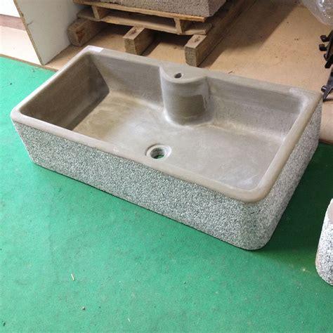 lavello in cemento lavandino lavello in cemento grigio granigliato una vasca