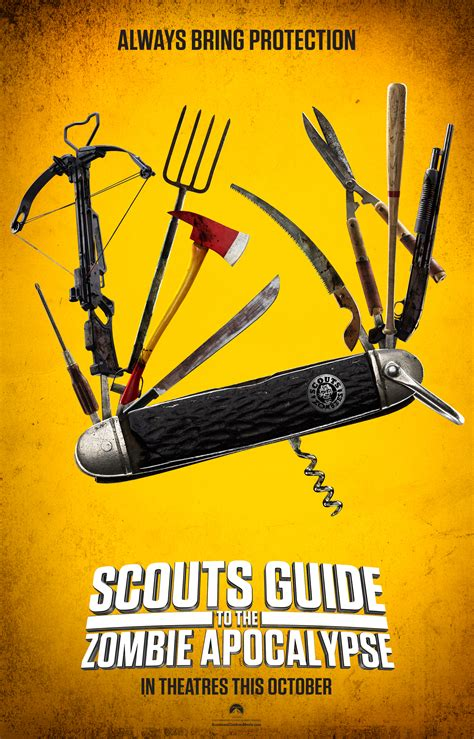 poster clips scout s guide to the zombie apocalypse poster and clip