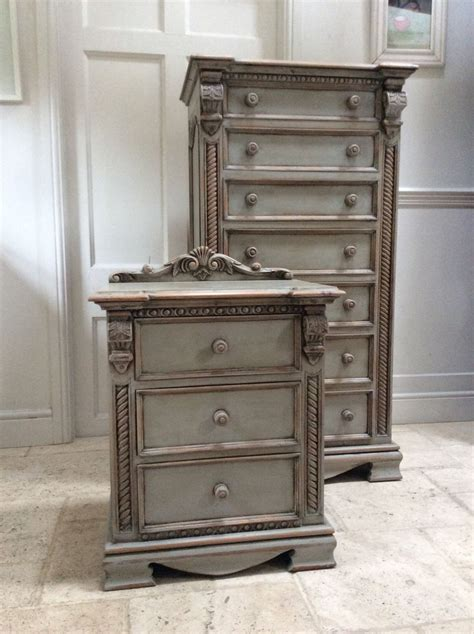 Grey Chest Of Drawers Uk by Rococo Style Ornate Grey Painted Pine Chest Of